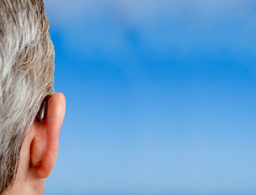 Man with over the ear hearing aid - El Paso TX