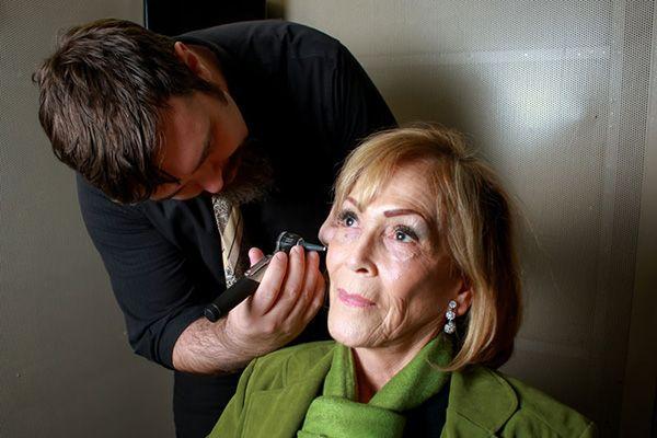 Audiologist doing a ear exam - El Paso TX